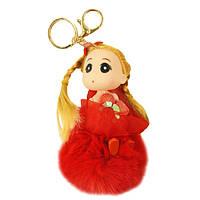Брелок Кукла на помпоне
