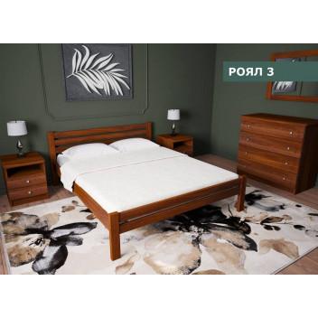 Дерев'яне ліжко РОЯЛ 3 (Гермес)