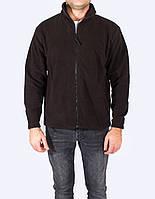 Флисовая кофта  мужская, черный цвет, JHK (Испания) одежда для спорта, выбор цвета, XS - XXL