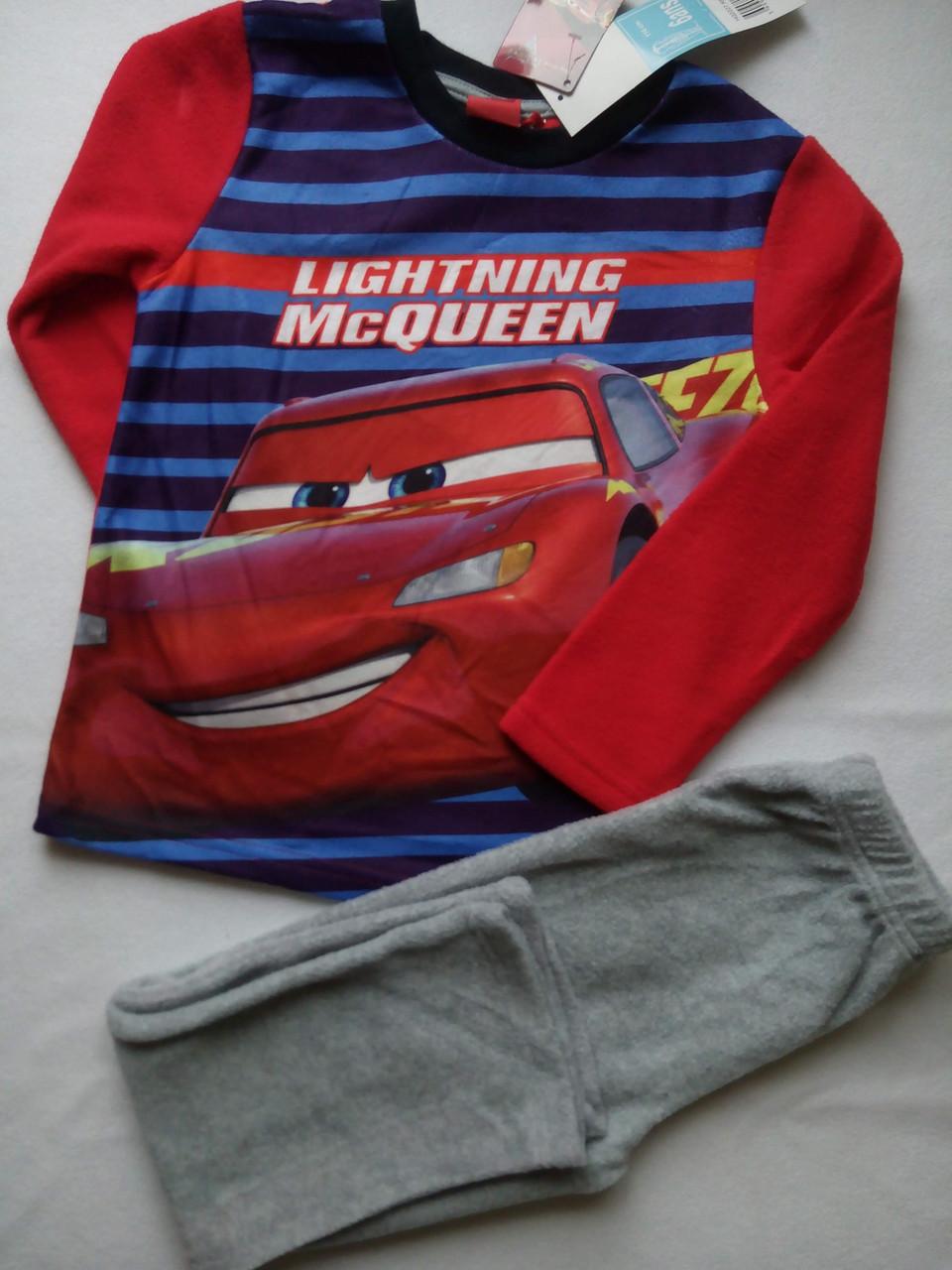 Теплая пижама для мальчика  на флисе TM SunCity (McQuin) 4года