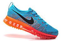 Мужские  кроссовки Nike Flyknit Air Max blue