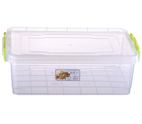 Контейнер пищевой Ал-Пластик Elit 7 л. 375 х 255 х 125 мм. плоский, фото 2