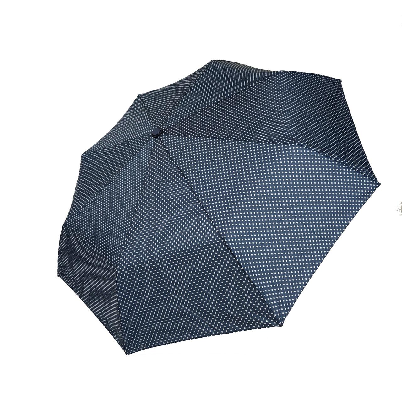 """Механический компактный зонт в горошек от фирмы """"SL"""", синий, 35013-4"""
