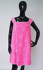 Полотенце халат в сауну на кнопках ткань микрофибра (140*80 см)