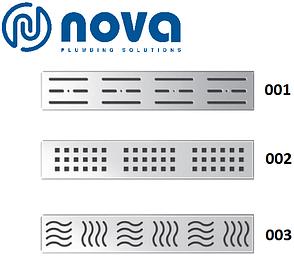 Душовий канал з решіткою з нержавіючої сталі NOVA 5102 (400 мм х 65 мм), фото 2