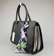 Женская сумка клатч David Jones черная-бежевая, фото 1
