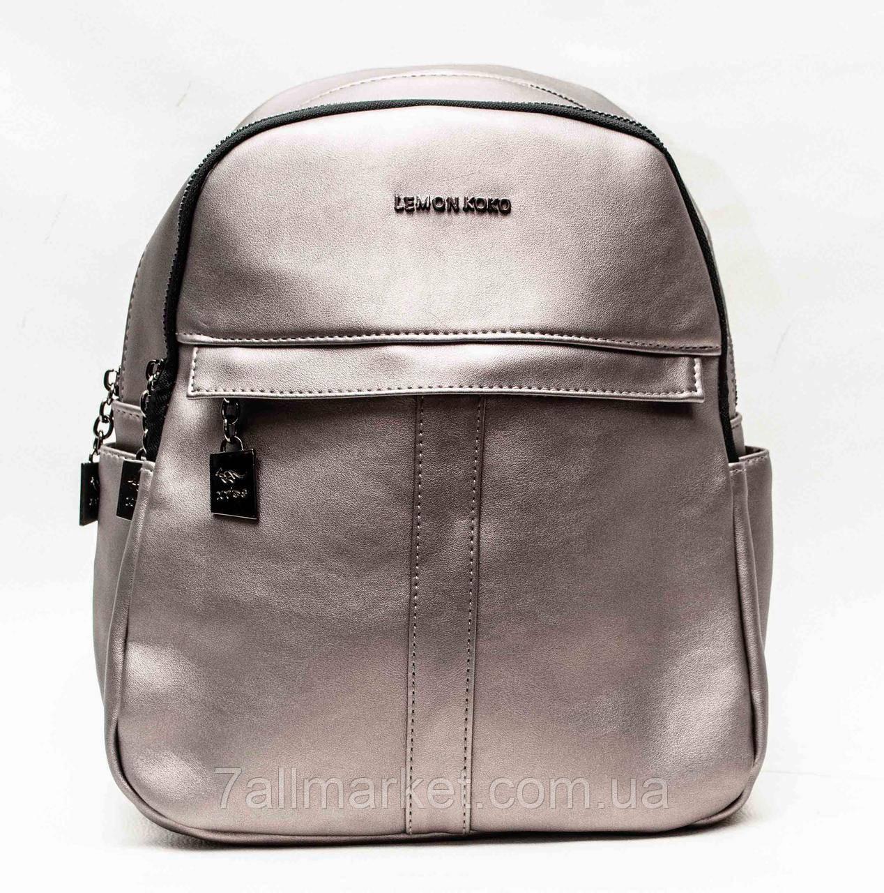 f9c2f2b75161 Рюкзак женский оригинальный, экокожа, р. 30*23 см (6 цв)
