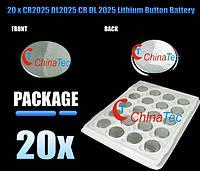 CR2025 DL2025 CR-2025 литиевая таблетка батарея, фото 1