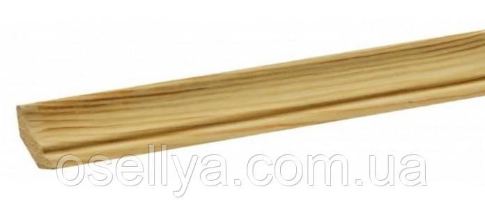 Плінтус дерев'яний сосна євро 28х36х2500 мм.