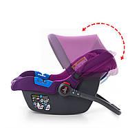 Автокресло-Бебикокон El Camino ME 1009-2 NEWBORN с регулируемой ручкой фиолетовый 0-13 кг, фото 4