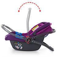 Автокресло-Бебикокон El Camino ME 1009-2 NEWBORN с регулируемой ручкой фиолетовый 0-13 кг, фото 3
