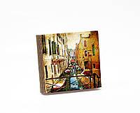 Шкатулка-книга на магните  slim  с 4 отделениями Венецианская улочка