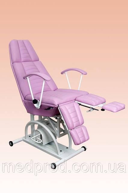 Кресло педикюрное КП-3РГ с гидравлической регулировкой высоты, с подставкой для ванночки