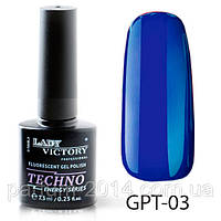 Флуоресцентный гель-лак Lady Victory GPT-03#V/A