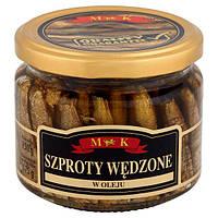 Шпроты в масле Szproty Wedzone M&K Польша в банке, 250 гр., фото 1