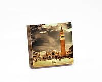 Шкатулка-книга на магните  slim  с 4 отделениями Площадь Сан Марко