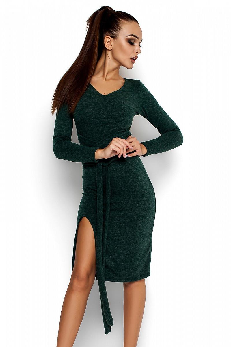 M-L   Осіннє коктейльне темно-зелене плаття Laisan