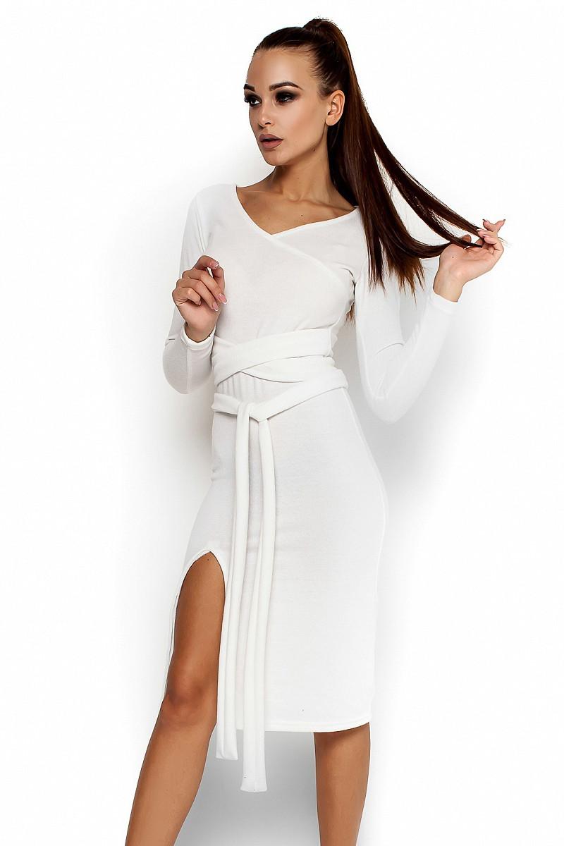 M-L) Осіннє Коктейльне Білий Плаття Laisan — в Категории