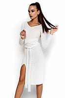 (M-L) Осіннє коктейльне білий плаття Laisan