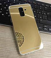 Зеркальный силиконовый чехол-накладка для Samsung Galaxy A6 Plus 2018