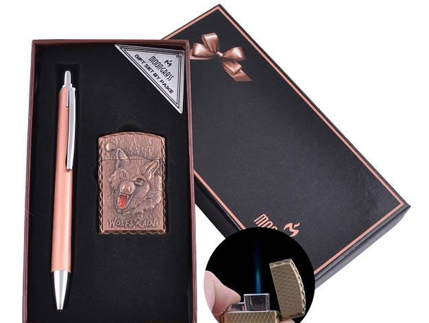 Подарочный набор ручка, зажигалка (Острое пламя) , фото 2