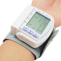 Цифровой тонометр на запястье Blood Pressure Monitor CK-102S / аппарат для измерения давления и пульса цифровой тонометр