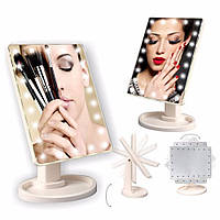 Led mirror зеркало с подсветкой для макияжа / Large Led Mirror / косметическое зеркало зеркало с подсветкой led mirror, Белый