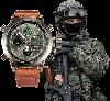 Наручные мужские армейские часы AMST Watch / спортивные наручные часы в стиле АМСТ, Коричневый - Фото