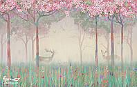 """Бесшовные флизелиновые фотообои """"Олени в сказочном лесу"""""""