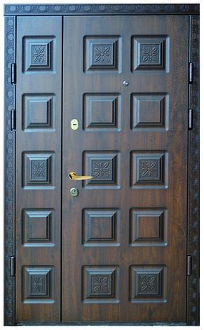 Двери уличные, модель 44. PRESTIGE 1170*2050, VINORIT, замки 2 шт KALE, 3D фрезеровка, патина, фото 2