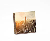 Шкатулка-книга на магните  slim с 4 отделениями Нью-Йорк