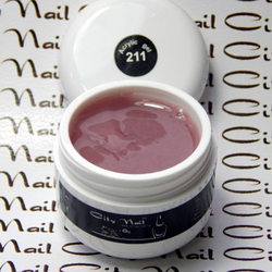 Акригель Acrylic Gel CityNail 211 натуральный розово-бежевый для наращивания и укрепления ногтей 15мл
