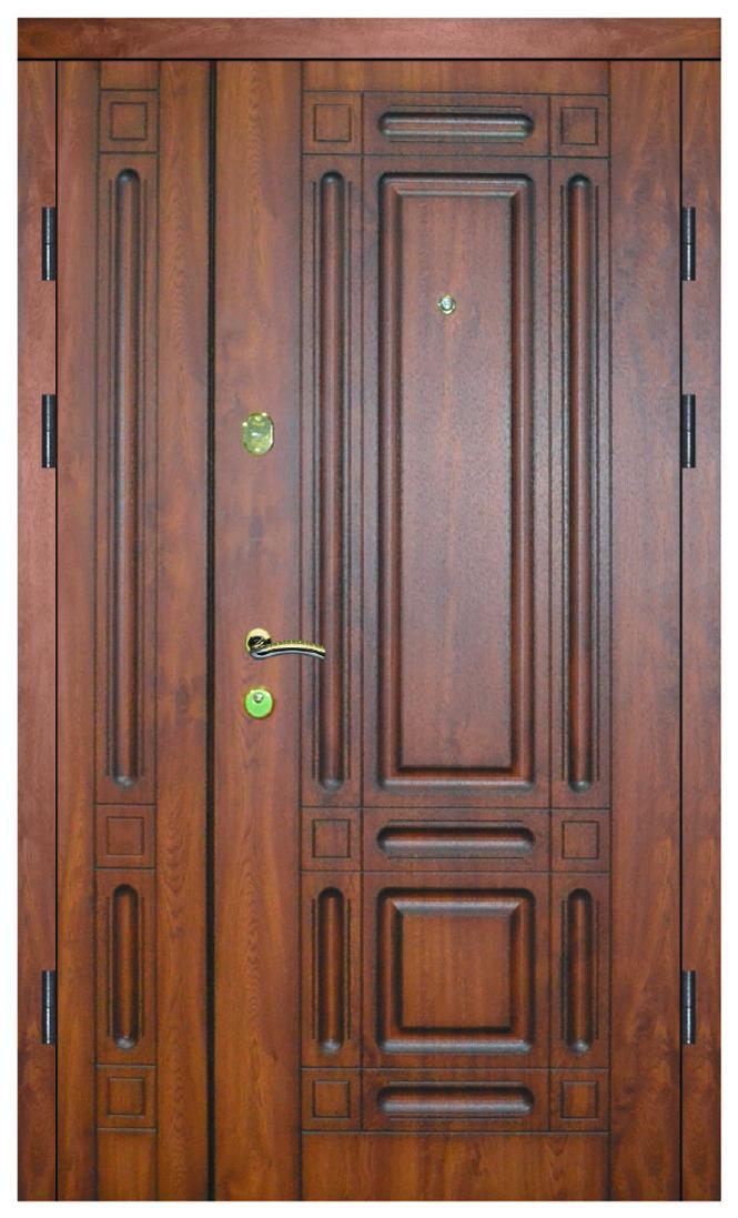 Двері вуличні, модель 47 PRESTIGE, 1170*2050, VINORIT, накладки 12 мм, патина