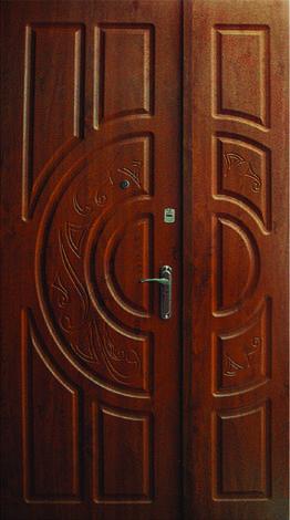 Двери уличные, модель 48 PRESTIGE 1170*2050, VINORIT, 2 замка, коробка 110 мм, полуторные, фото 2