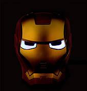 Светодиодная маска Железного Человека из Мстителей, Маска Железного Человека с подсветкой!