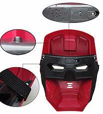 Светодиодная маска Железного Человека из Мстителей, Маска Железного Человека с подсветкой!, фото 2