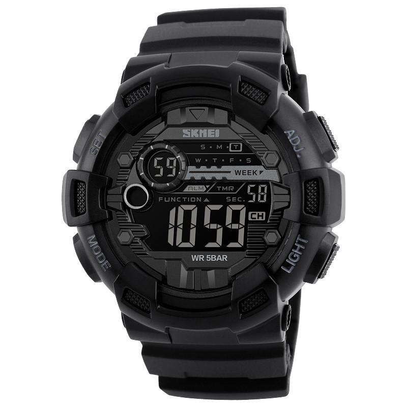 Skmei 1243 champion черные мужские спортивные часы