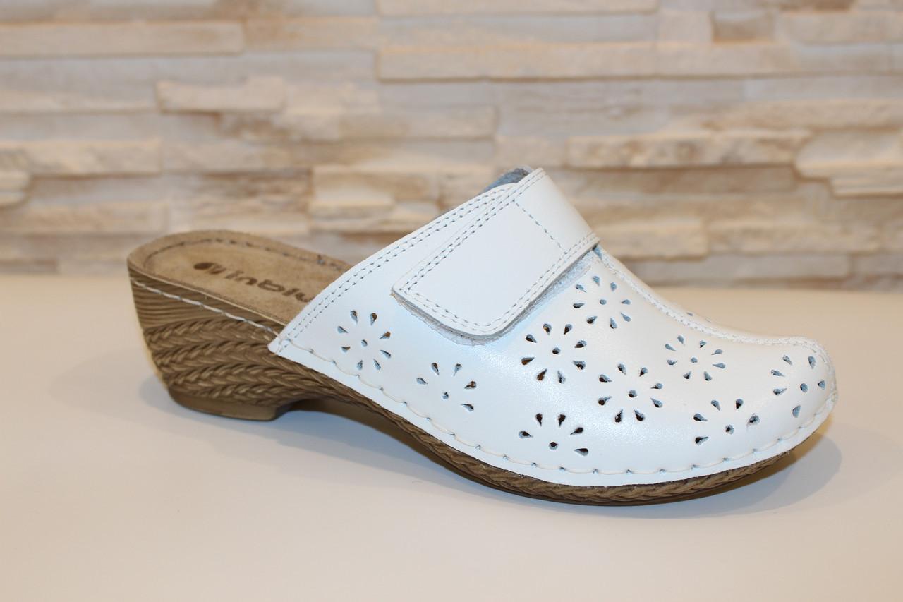 Сабо женские белые натуральная кожа Б461, цена 545 грн., купить в Запорожье — Prom.ua (ID#894363693)