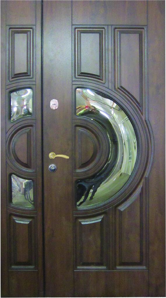 Двері вуличні, модель 53 PRESTIGE 1170*2050, VINORIT, накладки 16 мм, 2 замки KALE, коробка 110 мм, полуторні