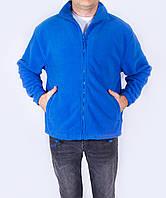 Флисовая кофта на молнии,  мужская, синий цвет, JHK (Испания) повседневная одежда, для спорта, XS - XXL