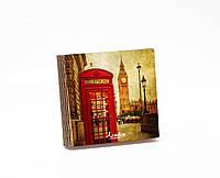 Шкатулка-книга на магните  slim с 4 отделениями Яркий Лондон