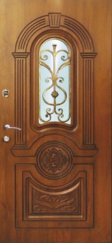 Двери уличные, модель 55 PRESTIGE, 970*2050, VINORIT, коробка 110 мм, 3D фрезеровка и патина, KALE