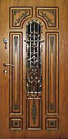 Двери уличные, модель 58 Премиум 970*2050, металл 2мм, коробка 110мм, VINORIT, накладки 16мм, MOTTURA, ковка