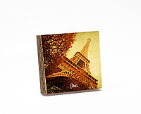 Шкатулка-книга на магните  slim с 4 отделениями Осень в Париже