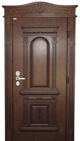 Двері вуличні, модель 61 Комфорт 970*2050, коробка 110 мм, VINORIT, замки KALE, 3D фрезерування і патина, фото 2