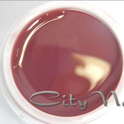 Акригель Acrylic Gel CityNail 23 темно-терракотовый для наращивания и укрепления ногтей