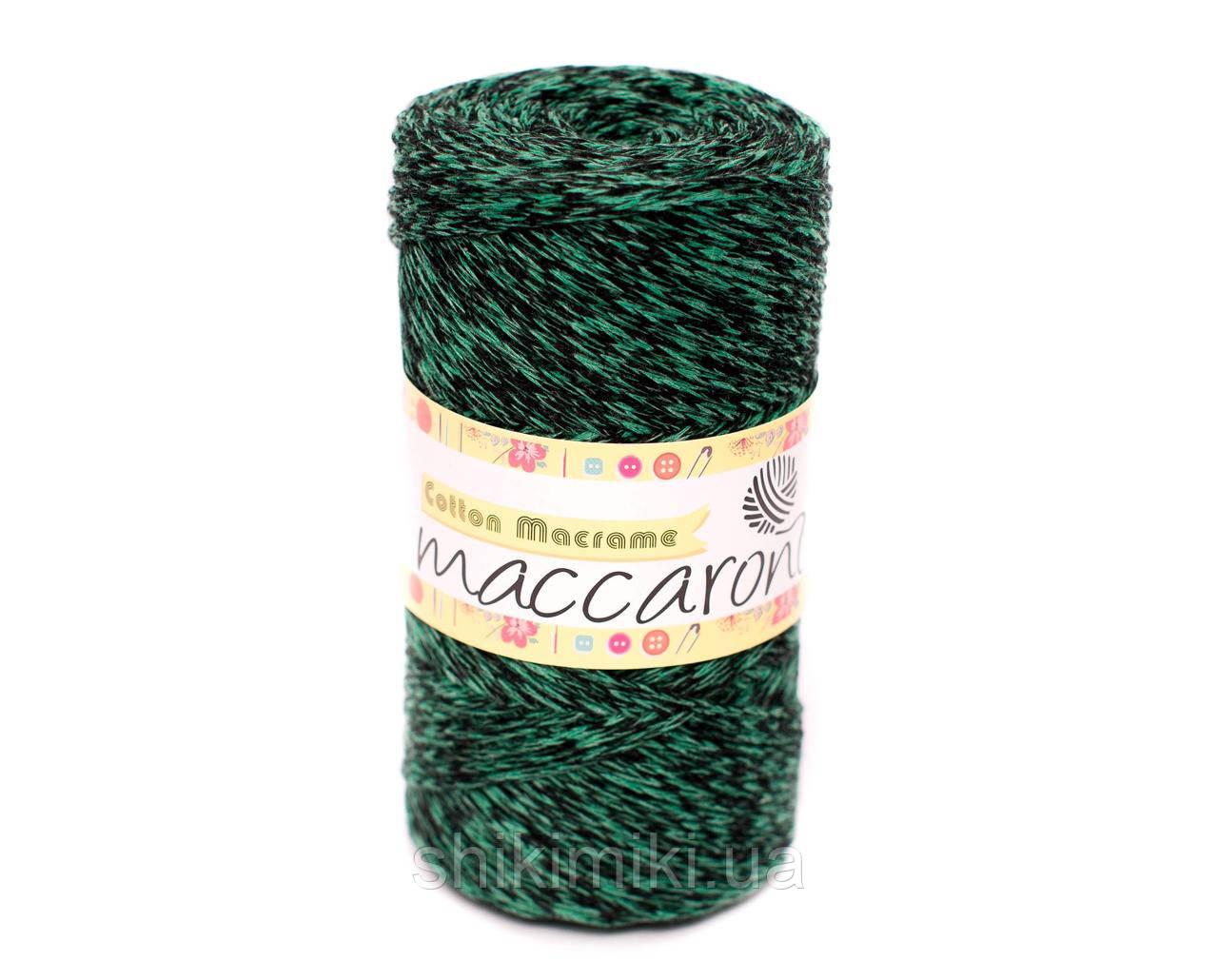 Эко Шнур Cotton Macrame, цвет Зелено -черный