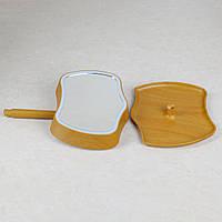 Косметическое зеркало с сенсорным экраном и подсветкой 2 в 1 Mirror Lamps / Настольная лампа / Светильник  Желтый, светильник
