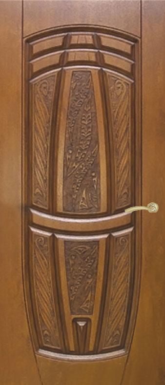 Двері вуличні, модель 65 Комфорт 970*2050, 3 контури ущільнення, коробка 110 мм, VINORIT, KALE, 3D фрезерування