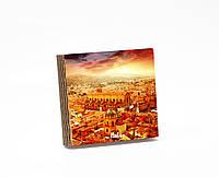 Шкатулка-книга на магните  slim с 4 отделениями Закат над Болоньей